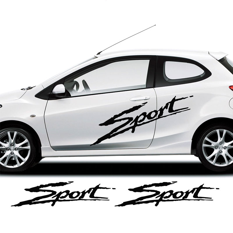Search For Flights 2pcs Car Stickers For Mazda 2 Sports Side Racing Stripes Decal Graphics /tuning Car Car Stickers Strong Resistance To Heat And Hard Wearing Exterior Accessories