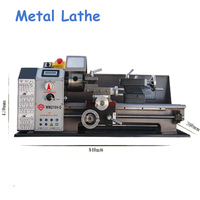 600W Metal Lathe All Steel Lathe Machine High Power Motor Machine Tool with Switch Control WM210V G