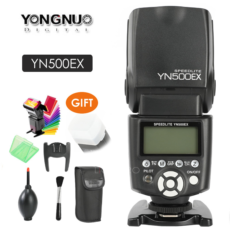 Yongnuo YN500EX YN 500EX YN500 EX Flash Light Speedlite Speedlight 1/8000s GN53 TTL for Canon 700D 650D 6D 7D 600D 400D 50D 5D калькулятор canon as 8 8 разрядный черный