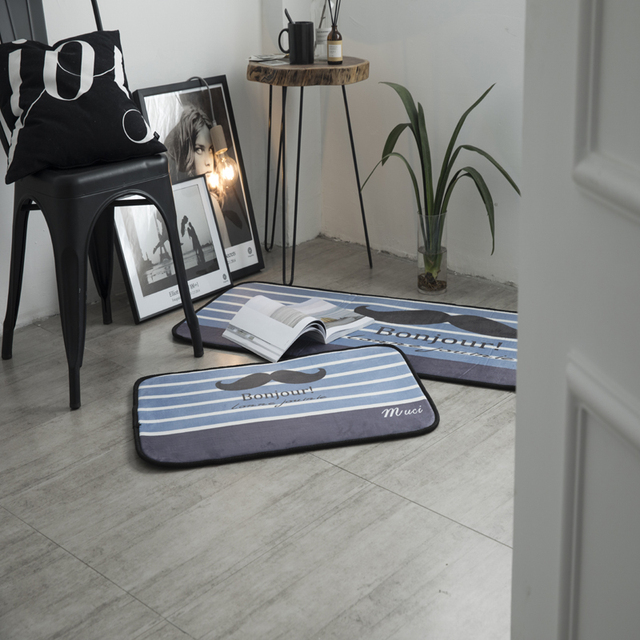 Blue Color Carpet Morden Fashion Doormats Floor Large Square Area Rugs For Bedroom Cartoon Carpets