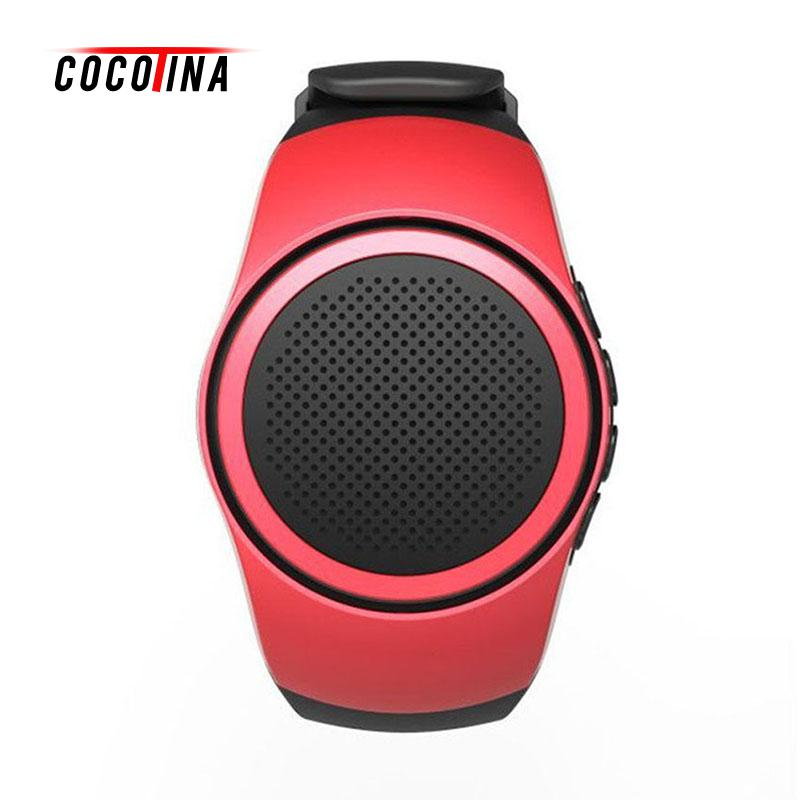 COCOTINA Sports Watch Audio Sound Bluetooth Music Box FM Radio Wireless Mini Portable Speaker Watch TF Card Supported LSB01259 portable mini led bluetooth speakers wireless small music audio tf usb fm light stereo sound speaker for phone xiaomi with mic