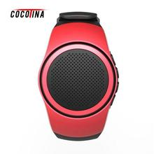 COCOTINA Sports Watch Audio Sound Bluetooth Music Box FM Radio Wireless Mini Portable Speaker Watch TF