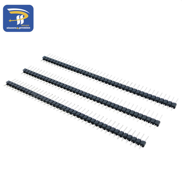 10pcs 40 Pin 1x40 Single Row Male 2.54 Breakable Pin Header Connector Strip