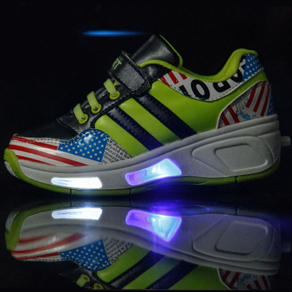 Roller shoes cheap - Led Light Glowing Children Shoes With Wheels Kids Roller Shoes Sneakers For Boys Girls Sneaker Tenis