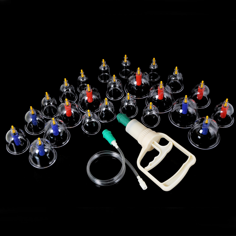 24/28pcs/set Vacuum Cupping Vacuum Cup Device Suction Cups Medical Sucker Magnetic Treatment Apparatus Banks Body Massage Cans