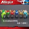 6 ШТ. DECOOL Мотоцикл Ninjagoes Nya Lloyd Cole Джей Кай Зейн Строительные Блоки Модель Кирпич совместимость с legoe Игрушки