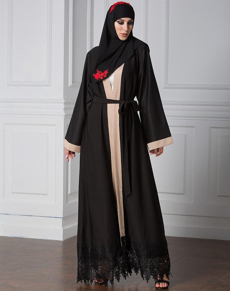 7085e36c80a TUHAO плюс размеры 2018 теплый кардиган-пальто платья для женщин женские  черные макси длинные мусульманские styleженские пояса DressCM177