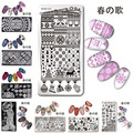 1 Pc Born Pretty Nail Art Stamping Template Japanese Series L001-L031 Rectangle 12*6cm Manicure Nail Art Image Plate