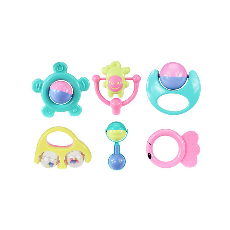 Baby Toys Plastic Hand Jingle Shaking Bell Lovely Hand Shake Bell Ring Baby Rattles Toys Newborn 0-12 Mnoths Teether Toys ...