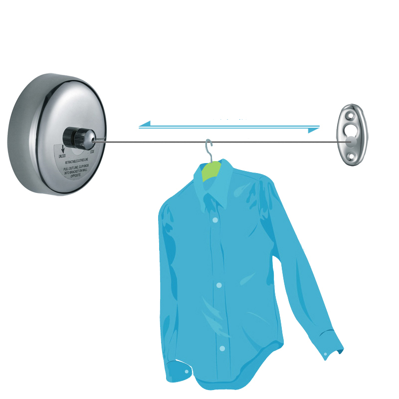 Bon New Stainless Steel Balcony Clothing Rope Slip Resistant Indoor Wall  Mounted Retractable Clothesline Home Hotel Tools  In Drying Racks U0026 Nets  From Home ...