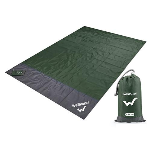 Походный коврик, водонепроницаемое пляжное одеяло, портативный коврик для пикника, коврик для пикника на открытом воздухе, коврик для пикника, одеяло, 1,4*2 м - Цвет: Army Green