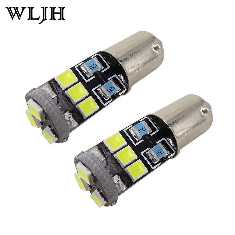 WLJH 4x Canbus BA9S T4W LED For Samsung Chip 2835SMD LED H6W 12V Lamp Car Bulb Interior Light Indicators Parking Light Lampadina cawanerl car canbus led package kit 2835 smd white interior dome map cargo license plate light for audi tt tts 8j 2007 2012