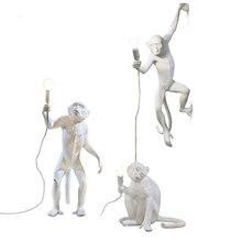 Moderne kreative design Harz Affe Loft Vintage Hanfseil Pendelleuchte für Hauptbeleuchtung Bar Cafe Retro Hängen pendelleuchte