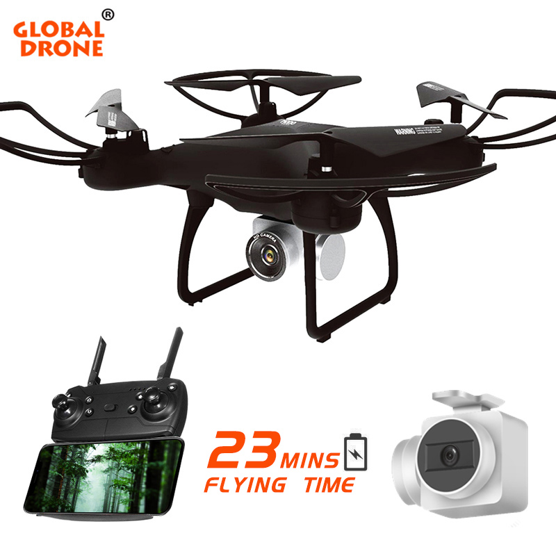 Глобальный Drone долгое время летать Дрон с Камера Headless режим дистанционного Управление Quadcopter WI-FI FPV высокая держать Квадрокоптер VS SYMA X5C