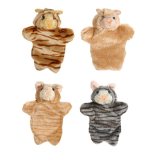 Cute Cat Hand Puppet Baby Kids Child Developmental Soft Doll Plush Toy Animal Hand Puppet Toys Parent-child Interactive Puppets