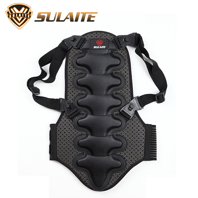 цена на SULATE Motorcycle Back Armor Protector Motocross Bike Rock Climbing Ski Skate Snowboard Cycling Back Protector Body Spine Armour