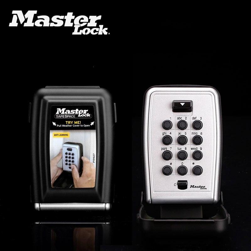 Master Lock Key Lock Box Metal Password Locker Wall Mounted Weather Resistant Combination Code Keys Storage Safe Organizers Box master lock safe space