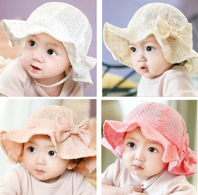 Girl Infant Baby Newborn Lace See-through Hat Cap Beanie Bonnet Hair Accessories