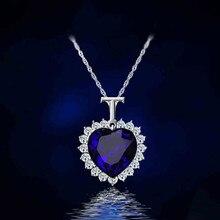 Титаник, сердце океана стразы кристалл цепи высокое качество кулон ожерелье ювелирные изделия CND137