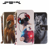 Painted Flip Case Fundas For LG K8 2017 K10 2017 PU Leather Silicon Wallet Stand Cover