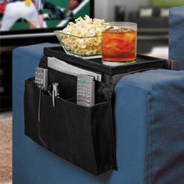 56*32*2CM 6 Pocket Sofa Arm Rest Remote Control Holder Storage Organizer Couch Bag As Seen On TV