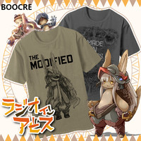 2017 New Anime Made In Abyss T Shirt Unisex Cute Printing T Shirt Cosplay Costume