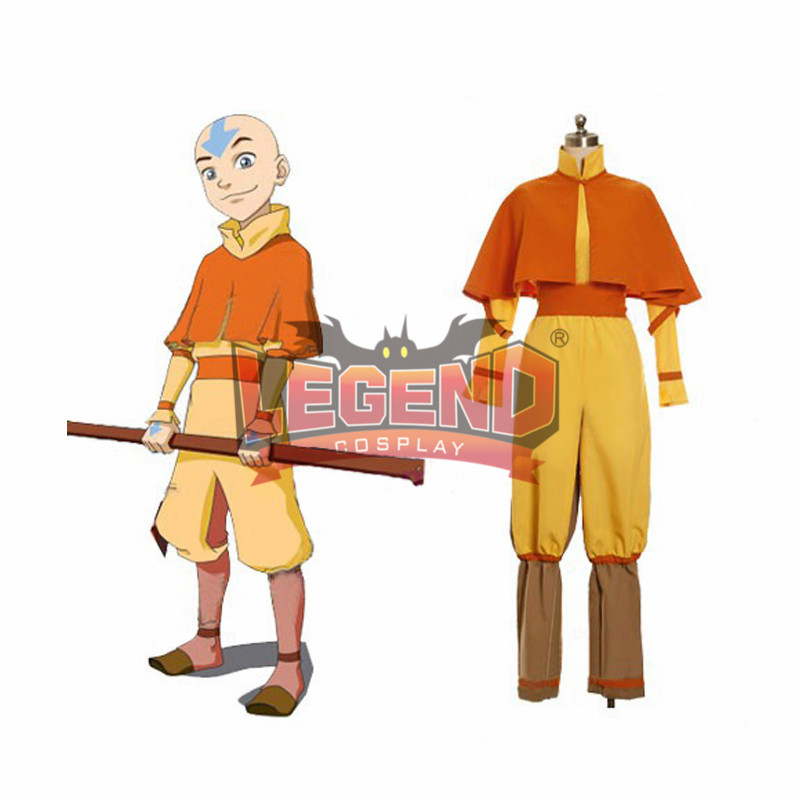 AvatarThe Last Airbender Cosplay Aang Costume outfit custom made full set