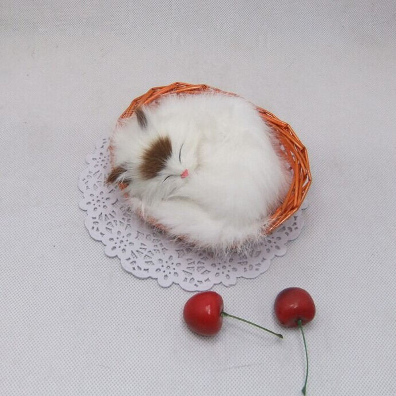 Levné hračky! Realistické spící kočky / líné měkké kočičí hračky, ideální dětská hračka, dívčí oblíbená 13 * 10 * 6cm