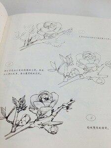 Image 2 - Libro de pintura de dibujo de línea china: Technigues de dibujo para 87 flores famosas lápiz blanco negro boceto libro de dibujo