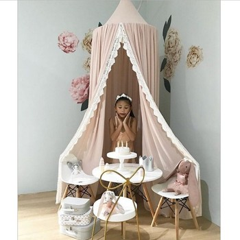 2018 Best GIFT For Kids Play Room Decor Teepee Kids Baby Princess Bed Canopy Bedcover Mosquito Net Curtain Bedding Dome Tent