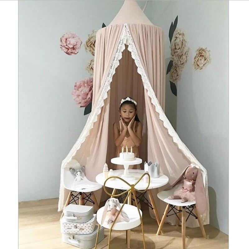 2018 meilleur cadeau pour enfants jouer salle décor tipi enfants bébé princesse lit baldaquin couvre-lit moustiquaire rideau literie dôme tente