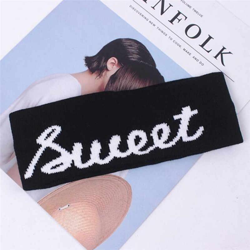 Kpop tiara de algodão para meninos, tira de cabelo extensível em algodão, elástica para esportes ao ar livre, basquete e yoga