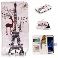 9 Cards Slot Luxury Leather Wallet Case For Samsung Galaxy S7 Back Case 2 In 1