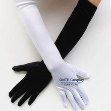 Аниме горничной косплей перчатки 22 см 42 см 52 см этикет эластичный плотный спандекс теплые перчатки черный/белый/красный