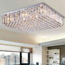 Современные светодиодные обеденная Люстра большой хрустальная лампа для спальни атмосфера гостиная огни красочные Простой прямоугольный вилла
