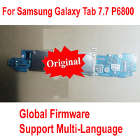 Global Firmware Original Motherboard for Samsung Galaxy Tab 7.7 P6800 Mainboard 3G&WIFI Logic Board Circuits Card Fee Flex Cable