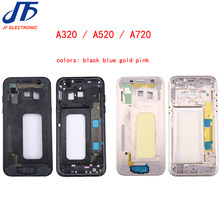Middle Frame Bezel for Samsung Galaxy A3 A5 A7 A320 A520 A720 2017 Version Mid Chassis Housing With Power On off Button 5pcs