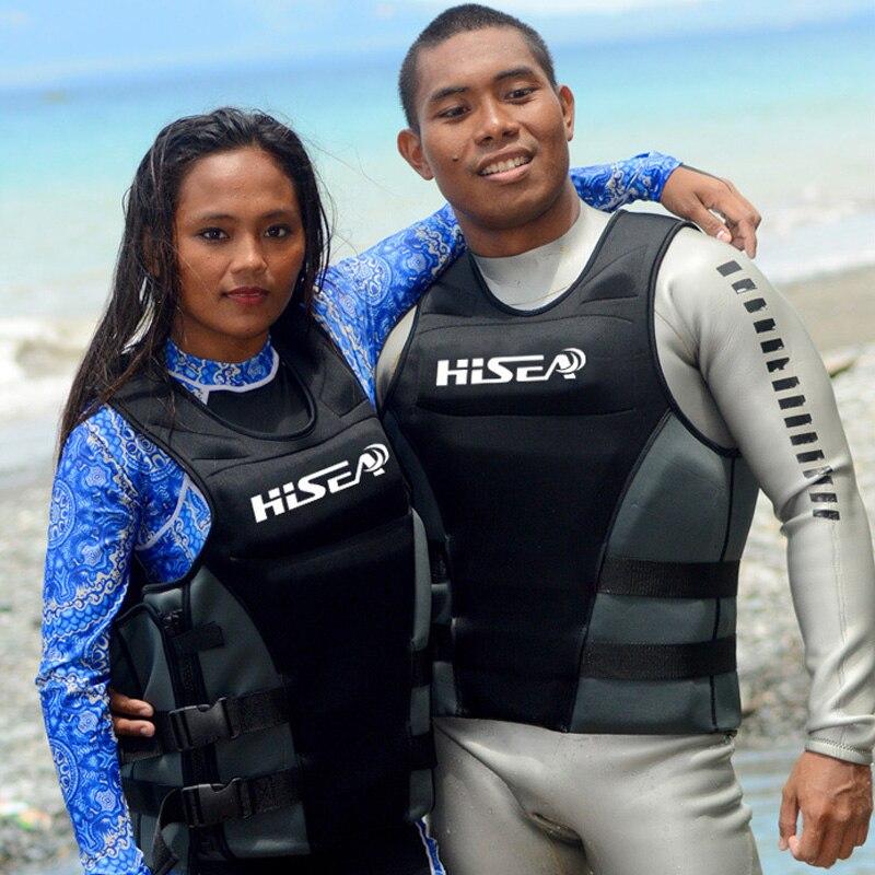 HISEA Men's Profession Surfing Motorboat Fishing Life Vest Kids Life Jacket Adult Swim Life Vest Floating Fishing Vest