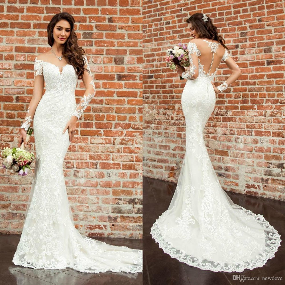 Vestido Eddy K Mermaid Wedding Dresses 2019 Long Sleeve