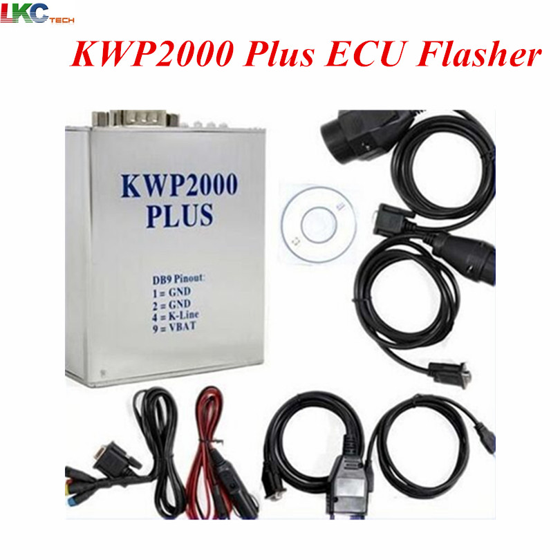 Hot Selling KWP2000 Plus OBDII Plus ECU Flasher OBD2 ECU Chip Tuning Tool KWP 2000 ECU For Multi Brand Cars