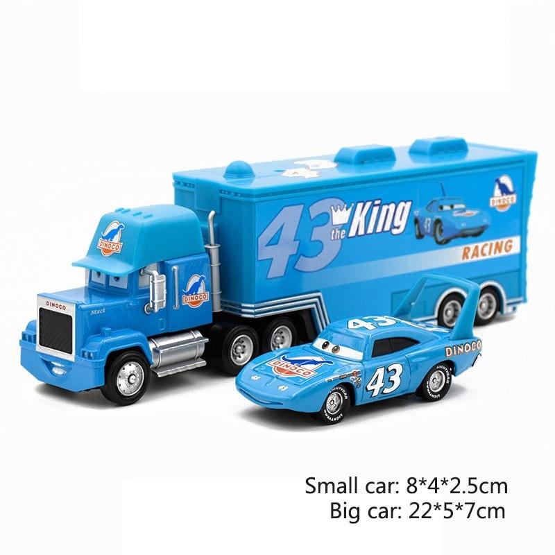 Дисней Pixar Тачки 2 3 игрушки Молния Маккуин Джексон шторм мак грузовик 1:55 литая под давлением модель автомобиля для детей рождественские подарки - Цвет: Two cars 9
