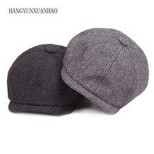 Peaky Blinders, мужские береты, шапка, осень, новая, винтажная, с узором в елочку, восьмиугольная шапка Wo, мужская, повседневная, тыква, шапка в стиле Гэтсби, плоская, берет, шапки