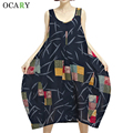 Chic Plaid Print Women Summer Tank Dresses Oversize Midi Dress Casual Beach Dress Plus Size Vestidos Fashion Robe Ete Dark Blue