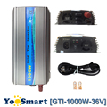 Inversor de onda sinusoidal pura PowMr 1000 W MPPT 36VDC (20-45 VDC) entrada 110VAC o 220VAC salida 50Hz/60Hz en la rejilla