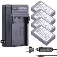 Batmax 4pcs PS BLS5 BLS5 Camera Battery +for Digital Charger for Olympus PEN E PL2 E PL5 E PL6 E PL7 E PM2 OM D E M10 E M10 II