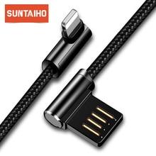 Suntaiho carregador usb para iphone xs max cabo usb para iphone 7 fio de carregamento carga rápida para iphone 5s para iphone cabo carregador 8