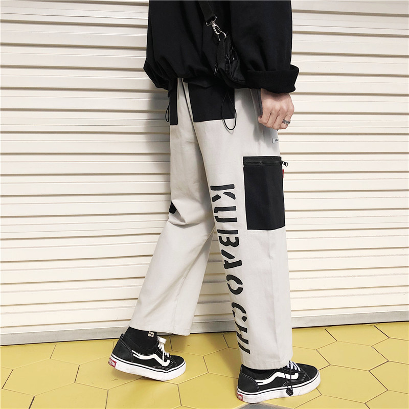 Sports-Trousers Pocket Couple Straighttube Korean Summer Casual Fashion New And Spring