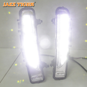 Image 3 - JAZZ TIGER Yellow Turning Signal Function Waterproof ABS 12V Car DRL Lamp LED Daytime Running Light For Ford Edge 2009   2014