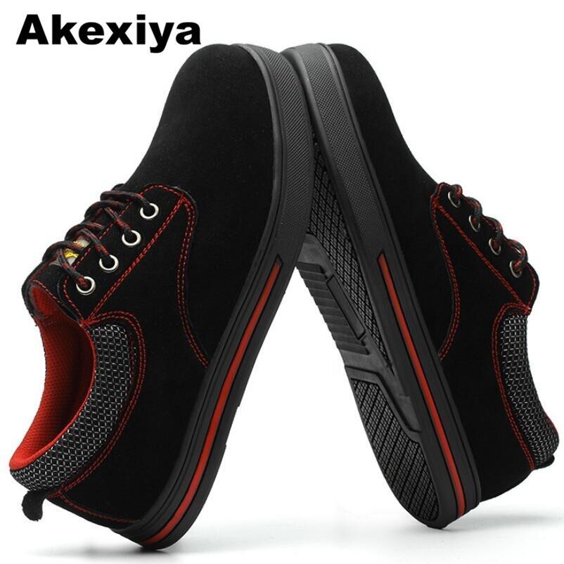 2018 Trabajo Transpirable Y Negro Nuevos Acero Casual Zapatos Botas Akexiya Puntera De Moda Seguridad Suela Verano Hombres gris Encaje Ligero BdgnPxq