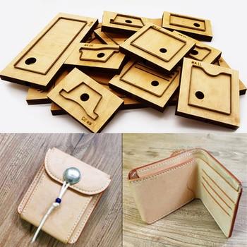 90x115x20mm DIY leather craft card holder folded wallet cutting dies hand machine punch tool pattern 9pcs/set